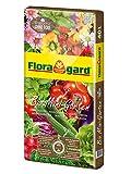 Floragard Bio Mini Garten ohne Torf 40 L • Universalerde • für Balkon, Terrasse oder Gewächshaus • für Gemüse, Blüh- und Zierpflanzen • Grow Bag • mit Bio-Dünger • torffrei