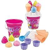 Simba 107114092 - Eimergarnitur Eis, 14 Teile, Sandkasten, Wasserspielzeug, Sandspielzeug, Es wird nur ein Artikel geliefert