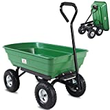 Deuba Gartenkarre 300 kg Kunststoff Kippfunktion Lenkachse Transportwagen Bollerwagen Muldenkipper Kippwagen