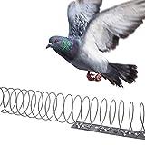Gardigo Vogelabwehr Spirale I 4 Spiralen je 125 cm, Gesamtlänge 5 m I Taubenabwehr aus Edelstahl I Vogelschutz für Balkon, Fenstersims, Dachkasten