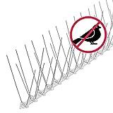 riijk 3 Meter Taubenabwehr Spikes vormontiert | Rostfreie Taubenschreck Vogelspikes | Vogelabwehr Spikes undVogelschutz | Tierschutzkonformer Taubenschutz