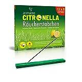 Premium Set aus 12 Packungen Citronella Räucherstäbchen + Räucherstäbchenhalter für Garten Outdoor Camping, Alternative zur Fackel Kerze Lampe Spirale oder Räucherkerzen