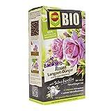 Compo BIO Rosen Langzeit-Dünger für alle Arten von Rosen, Blütensträucher sowie Schling- und Kletterpflanzen, 5 Monate Langzeitwirkung, 2 kg