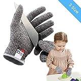 OUTERDO Schnittsichere Handschuhe für Kinder – Leistungsfähiger Level 5 Schutz, Schnittfeste Handschuhe lebensmittelecht,XS für 8-12 Jährige