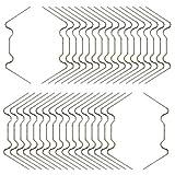 KEAYOO 100 x Gewächshausklammern Extra Dick 1,6mm Rostfrei Edelstahl Glasklemmen für Gewächshaus