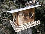 Qualität aus Niederbayern ARBRIKADREX Eichhörnchenfutterhaus- Eichhörnchen-Haus Kobel Witterungsbeständig Wahlweise:imprägniert oder geflammt (Edel Geflammt)
