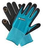 GARDENA Pflanz- und Bodenhandschuh 8/M: Handschuhe für Garten- und Bodenarbeiten, Feuchtigkeitsschutz dank Nitril-Oberfläche, mobile touch für Smartphonenutzung (11511-20)