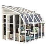RION Kunststoff Anlehngewächshaus, Tomatenhaus, Wintergarten Sun Room 45' // 322 x 258 x 266 cm // inkl. Dachfenster