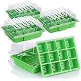 com-four® 4X Zimmergewächshaus zum Anzüchten von Pflanzen - Anzuchtset für 48 Pflanzen - Pflanzkasten für die Wohnung (04 Stück - Zimmergewächshäuser)
