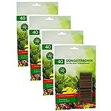com-four® 160x Düngestäbchen - Blumendünger für Grünpflanzen und Blühpflanzen - Pflanzendünger für Wachstum und gesunde Blüten