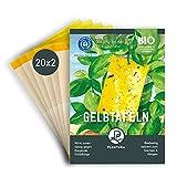Plantura Gelbtafeln, 40 kleine Gelbsticker, insektizidfrei & geruchlos, gegen Trauermücken & andere Fliegende Schädlinge