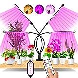 EWEIMA Pflanzenlampe LED, 80 LEDs 4 Heads Pflanzenlicht Vollspektrum, 360°Einstellbar LED Grow Lampe Pflanzenleuchte, Wachstumslampe mit Zeitschaltuhr für Gartenarbeit Bonsais
