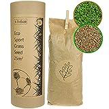 BeEco Öko-Grassamen   Sport und Spielrasen Mischung Rasensamen - Schnellkeimend 25m²   Perfekt für die Rasen Nachsaat   100% Recyclebar in Einer Pappröhre   Grassamen ohne Pestizide angebaut