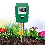 XDDIAS Bodentester, 3 In1 Pflanzen Feuchtigkeit Messgeraet, Boden pH Wert/Feuchte/Lichtstärke Meter Pflanze Tester für Pflanzenerde, Gartenbau, Bauernhof, Rasenpflege