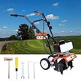 Samger Samger Mini Pinne Kultivator-Motor 52cc 2-Takt Gas Benzin Garten Rotovator Rasen