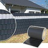 Plantiflex Sichtschutz Rolle 35m Blickdicht PVC Zaunfolie Windschutz für Doppelstabmatten Zaun (Buchsbaum)