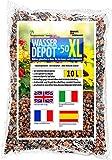 Humusziegel - Blähton für Pflanzen- Pflanzton XL - 4-8mm gebrochen - für Zimmerpflanzen, Pflanzenerde - als Wasserspeicher, gegen Unkraut und Staunässe - als Deckschicht - 10 L