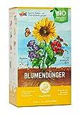Plantura Bio Blumendünger mit 3 Monaten Langzeitwirkung für den Garten & Balkon-Pflanzen, für eine prächtige Blüte, gut für den Boden, unbedenklich für Haus- & Gartentiere (1)