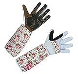 Kerbl 297532 Rose Garden Rosenhandschuhe Gartenhandschuhe, Lange Stulpe, Stachelschutz, Größe 8