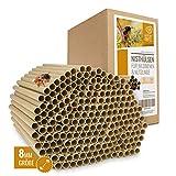wildtier herz | 200 Nisthülsen mit Ø 8mm für Wildbienen - 100% ökologische Pappröhrchen für Insektenhotel, Niströhren & Bruthülsen als Füllmaterial für Bienenhotel