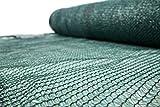 Unbekannt Schattiernetz 55% 60g/m2 Schattiergewebe Sonnenschutz Zaunblende 6 Größen (1,5x25m)