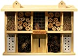 Insektenhotel Bausatz Landsitz Superior mit 10 Zimmern für Wildbienen, 47 x 12,5 x 34 cm, Kiefer