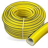 Stabilo-Sanitaer Premium Gartenschlauch Länge: 50m Durchmesser: 25mm Wasserschlauch mit Trikotgewebe | knickfrei | verdrehungsfest