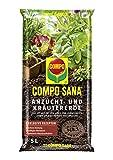 COMPO SANA Anzucht- und Kräutererde mit 6 Wochen Dünger für alle Jung- und Kräuterpflanzen, Kultursubstrat, 5 Liter