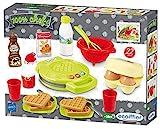 Ecoiffier – Waffeleisen für Kinder – 22-teiliges Backset mit Spiellebensmitteln, ideales Zubehör für Spielküchen, Spielwaffeleisen, für Kinder ab 18 Monaten