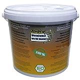 Hubey Wurmhumus, 5 Liter Wurmmist Wurmkompost Naturdünger für Gartenerde und Blumenerde, natürlicher Stickstoffdünger rein organisch NPK Bodenverbesserer