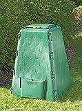 Juwel Thermokomposter AEROQUICK 420 (Nutzinhalt 420 l, für Gartenabfälle + Essensreste, Komposter aus UV-stabilen Recyclingkunststoff, konische Form, mit 2 Entnahmeklappen) 20165