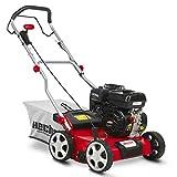 HECHT Benzin-Vertikutierer 5676 Rasen-Lüfter Motorvertikutierer (3,3 kW (4,5 PS), 40 cm Arbeitsbreite, 6-fache zentrale Höhenverstellung, 45 Liter Fangkorb, Walze: 18 Messer)