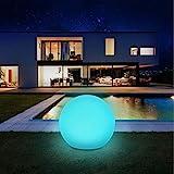Solarlampen für außen, infray Solarleuchten für außen, Solar Gartenleuchten 30cm Solarkugel mit 9 Modi Leuchte, IP67 Wasserdicht LED Solarleuchten