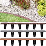 Deuba Rasenkante 3,8m Braun Beeteinfassung Beetumrandung Mähkante Randstein Optik 1 Element (LxH): 15,89 x 11,5 cm