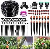 XDDIAS 40m Garten Bewässerungssystem, Automatik Tröpfchenbewässerung Gewächshaus Sprinkle Bewässerung Kit für Tröpfchen, Terrasse Pflanzen, Gewächshaus