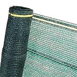HaGa® Schattiernetz (Meterware) - Grünes Netz in 4 m Breite mit 60% Schattierwirkung - Sonnenschutzgewebe