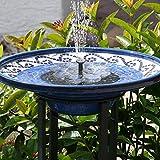 TekHome Neu Solar Springbrunnen, 1.6W Vogelbad Brunnen Garten Deko,Gartendeko Solar Fontäne, Gartenbrunnen Pumpe Solarbetrieben Groß für Außen Miniteich, Springbrunnen Wasserspiel Solar Teich.