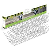Edelstahl Taubenspikes – Robuste Taubenabwehr - Gut geeignet gegen Vögel, Krähen und Spechte - Einfache Montage – Länge 3m