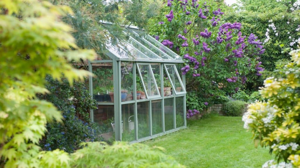 Gewächshaus aus Glas