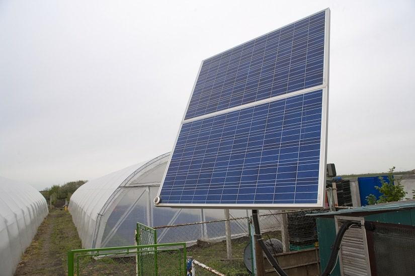 Heizung für das Gewächshaus, solarenergetisch betrieben