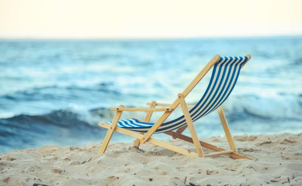 Strandstuhl aus Holz