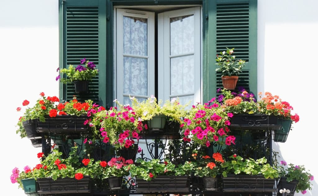 Blumenkasten mit Wasserspeicher