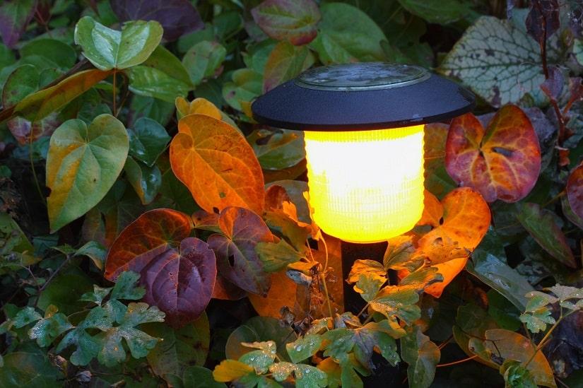 Besonders zu empfehlen sind energiesparende Solarlampen mit einem Bewegungsmelder. Diese schalten sich bei einer Nutzung bzw. einer Nichtnutzung automatisch ein und aus.