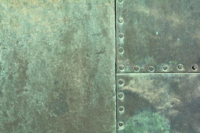 Grünspan auf Kupfer