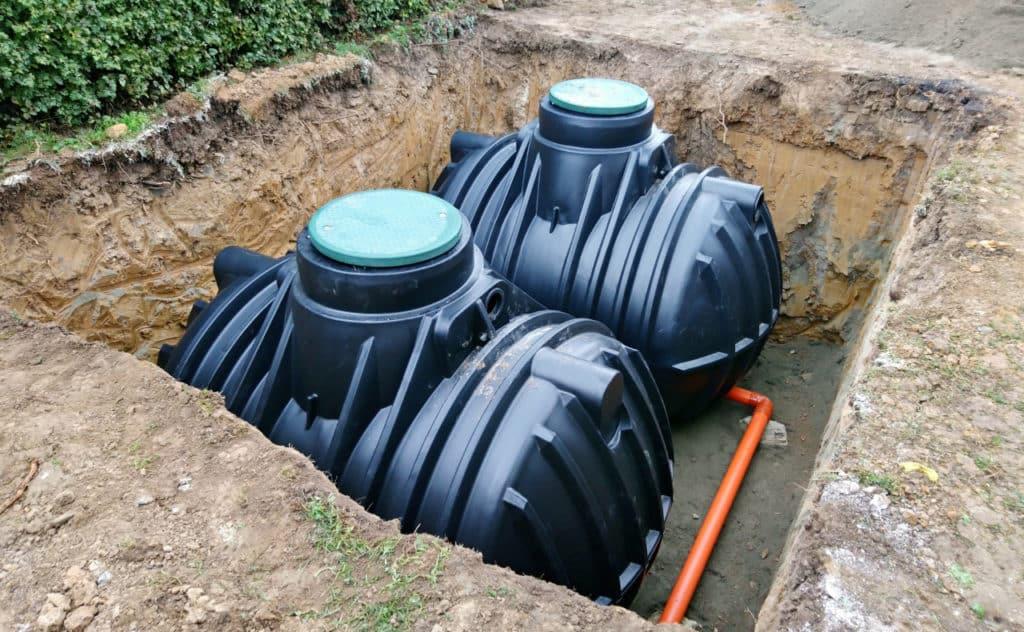 Regenwassertank unterirdisch